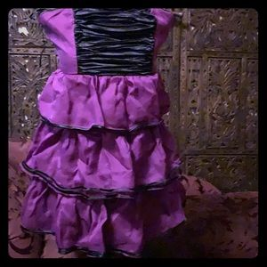 Betsy Johnson strapless tiered purple party dress